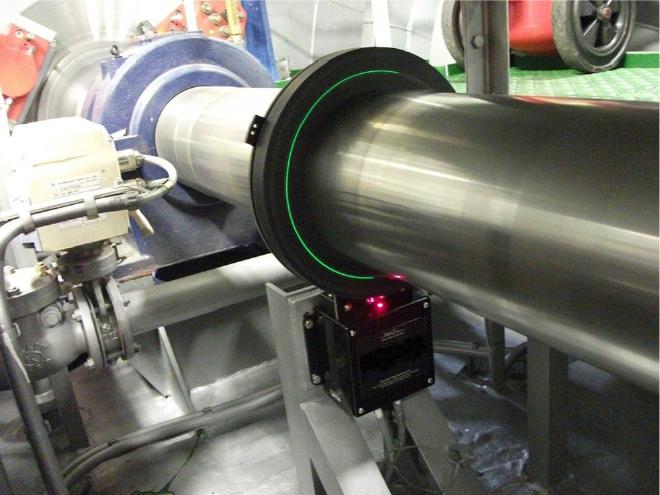 Torque meter installed on a propeller shaft
