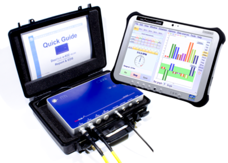 DocHub 932 e-line: portable multi channel online data acquisition and alarm device for diesel engines