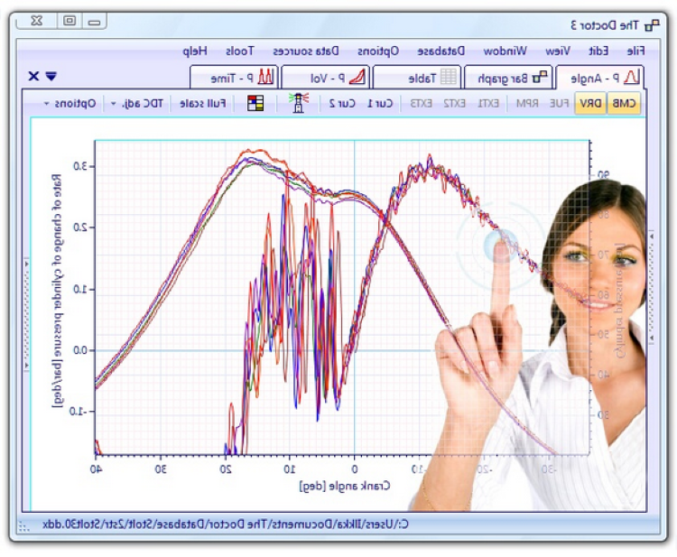 DocSoft e-3 software for diesel engine analysis