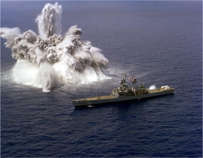 shock underwater blast navy ship